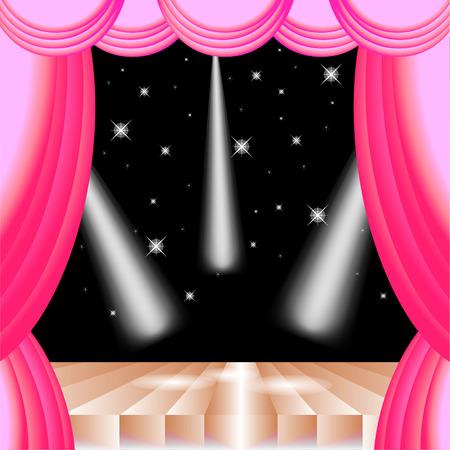 rideau sc�ne: Vecteur stade de rideau