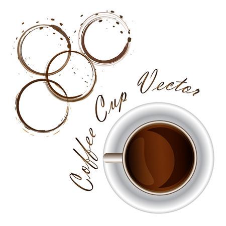 coffee cup desings background Vector