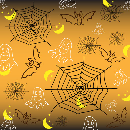 Vector illustrator background in halloween night Vector