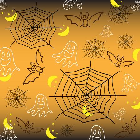 Vector illustrator background in halloween night