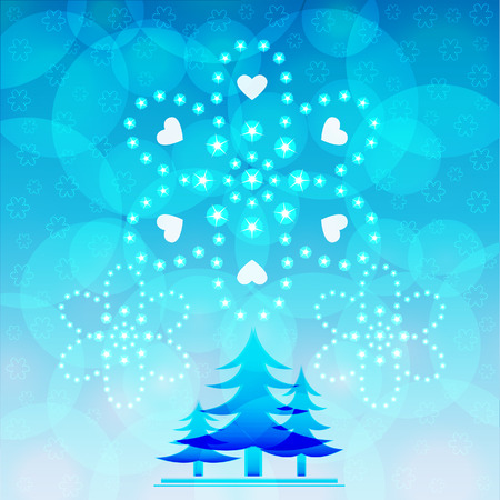 blue tree of christmas vector illustrator background designs Vector