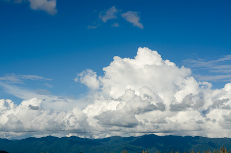 clouds sky and mountains landscape photo