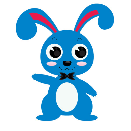 bunny rabbit: ultramarine rabbit vector illustrator isolated Illustration