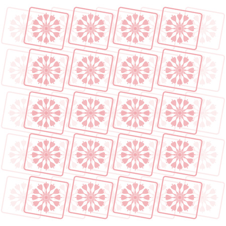 pink flower pattern background vector Vector