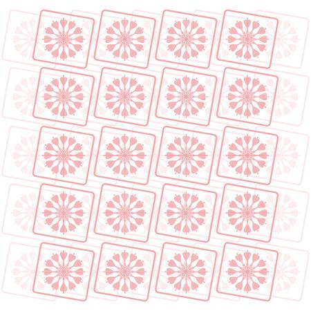 pink flower: pink flower pattern background vector