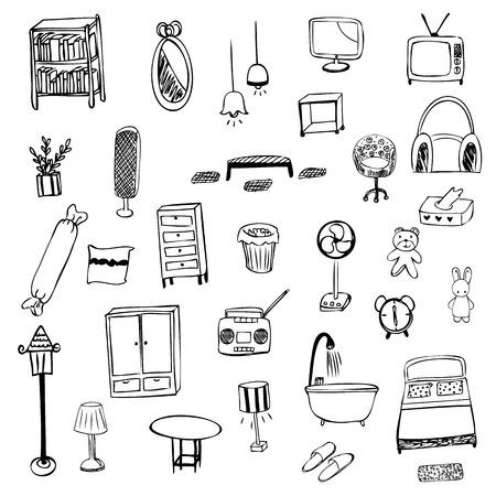 housewares: Housewares sketch vector symbol
