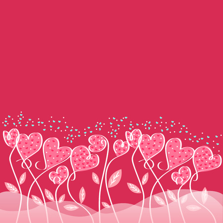 Love card designs of valentine day Vector