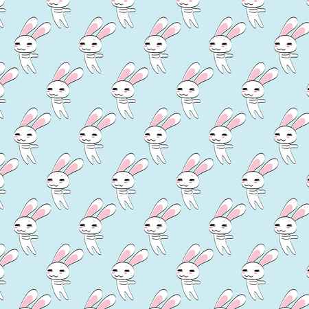 bunny pattern background Vector