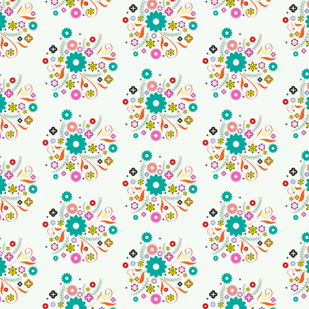 tracery of flower background Vector