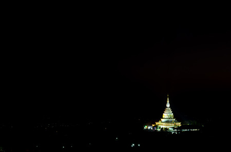 mea: Wat Tha Ton view at night,Mea ai district in Thailand