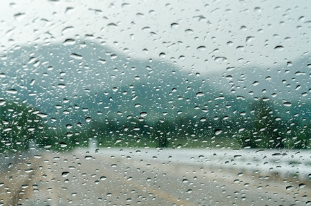 auto glass: raindrops on auto glass