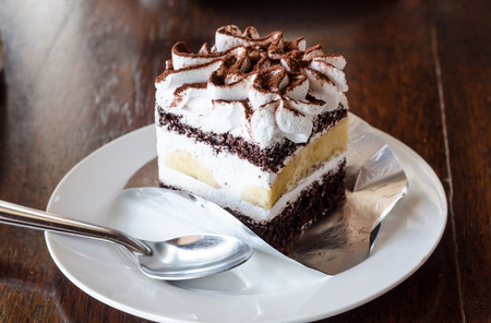 cake bakery in coffee cafe