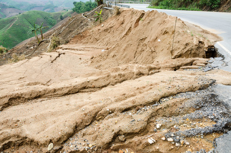 Natural disasters landslides during in the rainy season