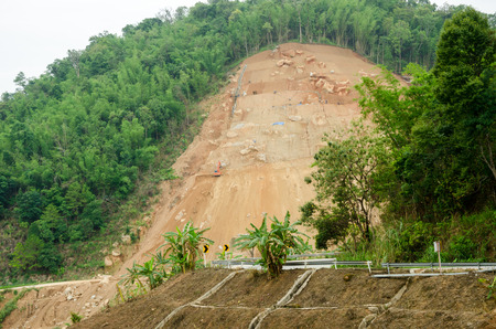 natural disasters: Natural disasters landslides during in the rainy season