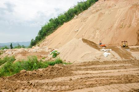 CHIANG RAITHAILAND MAY 25 : Natural disasters landslides during in the rainy season at Mae Suai district on May 25 2015 in Chiang Rai Thailand Editorial