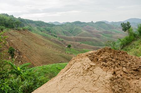 landslip: Natural disasters landslides during in the rainy season