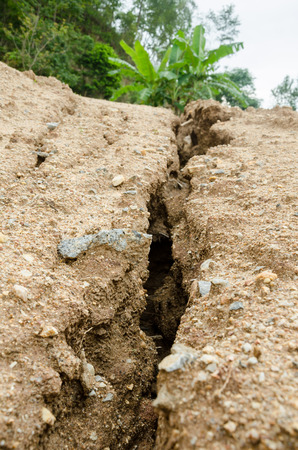 mud slide: Natural disasters, landslides during in the rainy season