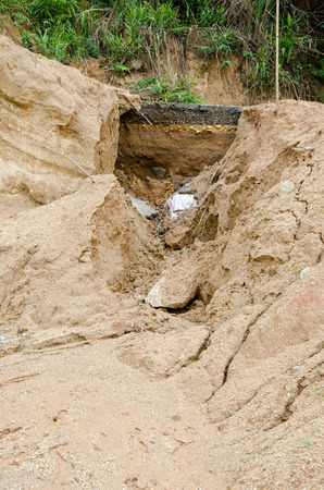 natural disasters: Natural disasters, landslides during in the rainy season