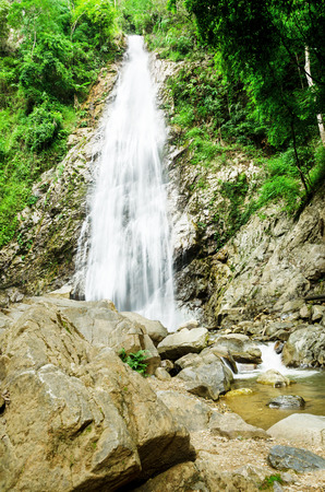 Korn: Khun Korn waterfall is beautiful and tall waterfall in Chiang Rai, 70 metres tall