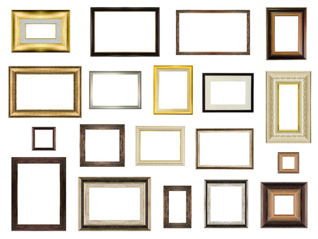 blank photo: picture frame set isolated