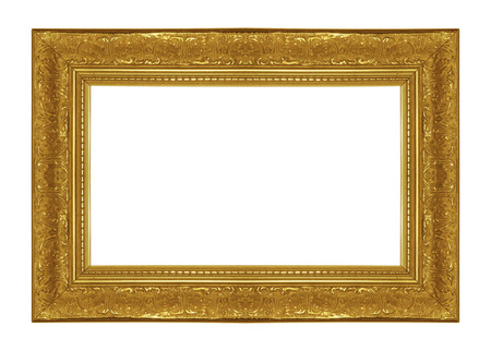 antique frames: Antique Picture Frames on white isolated Stock Photo