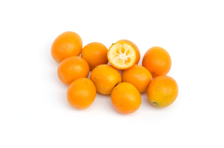Gumquat on white isolated Stock Photo