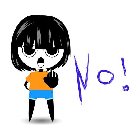 say: cartoon character woman say no