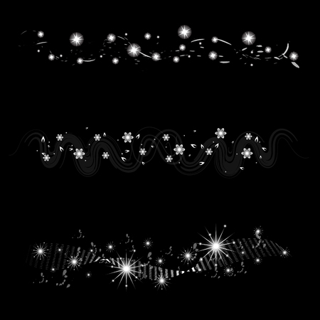 lighting effect: lighting effect vector on black background Illustration