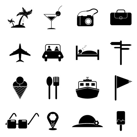 Travel Icons Set Designs Vectoricon Travel Vectortravel Signs