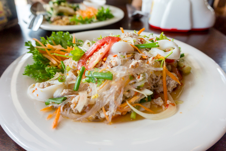 vermicelli: spicy vermicelli salad Stock Photo