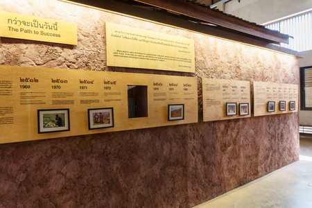 royal: CHIANG MAI,THAILAND-JUNE 26,2016:The Royal project Doi Kham of the King of Thailand Bhumibol Adulyadej in the museum Chiang Mai,Thailand