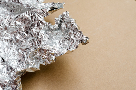 silver background: Silver crumpled foil texture background
