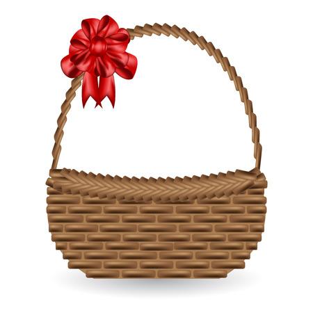 Vektor Geschenkkorb und schmücken Bandbogen