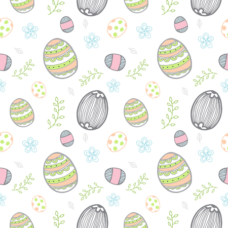 Easter eggs pattern seamless vector illustration background