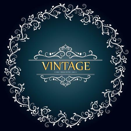 vector set of decorative vintage calligraphic frame Illustration