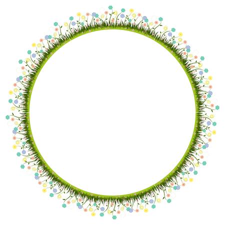 Flower frame vector on white background