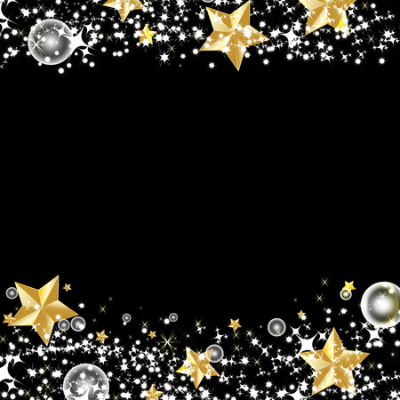 Beautiful vector of gold star with light effect stars glitter sparkles isolated on black background