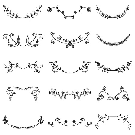 Ornamental stripes doodle of free hand drawing sketch vector