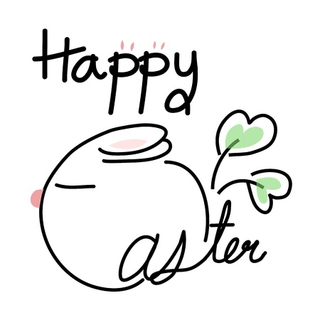 doodle drawing happy easter vector design