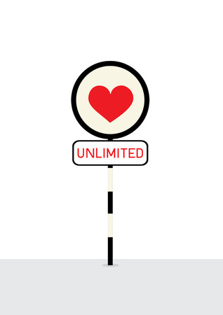 sign post: Love unlimit sign post.
