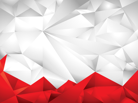 abstract white & red polygon background Ilustração