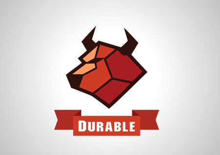durable: Durable cow logo in strong look.