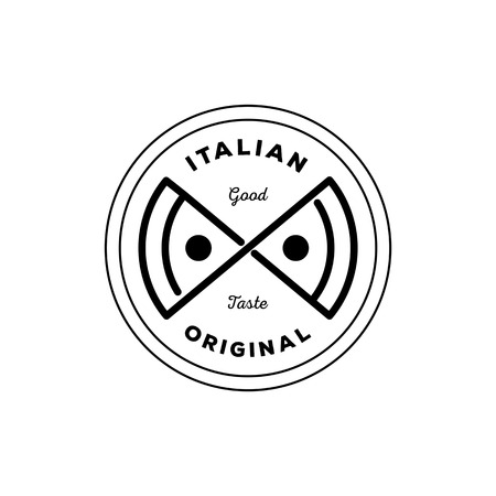 Italian Original Pizza Logo Design With Creative Pizza In Infinity