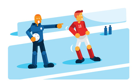 coach training player before substitution Illustration