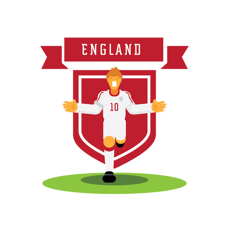 Number ten England captain soccer player celebrate with team badge