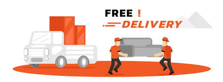 furniture free home delivery service vector illustration cover page design Ilustracja