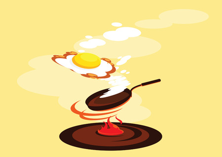 side up egg smoked fried egg fresh cook vector  illustration 版權商用圖片 - 111433130