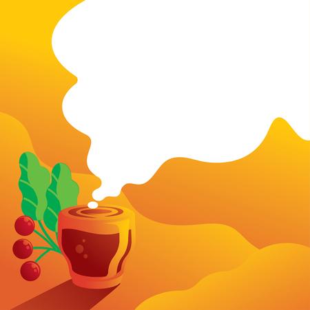 single origin espresso shot background vector illustration background Illustration