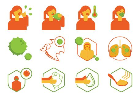 virus defection with woman icon vector illustration