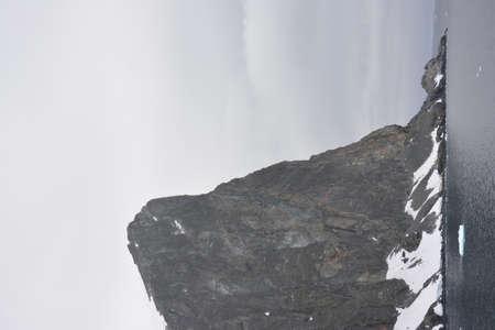 Huge mountains and cliffs, Antarctica, December 2019 스톡 콘텐츠